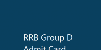 RRB Group D Admit Card Railway Exam Date Roll No rrcb.gov.in Download