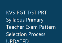 KVS PGT TGT PRT Syllabus Primary Teacher Exam Pattern Selection Process UPDATED