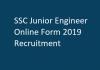 SSC Junior Engineer Online Form 2019 Recruitment