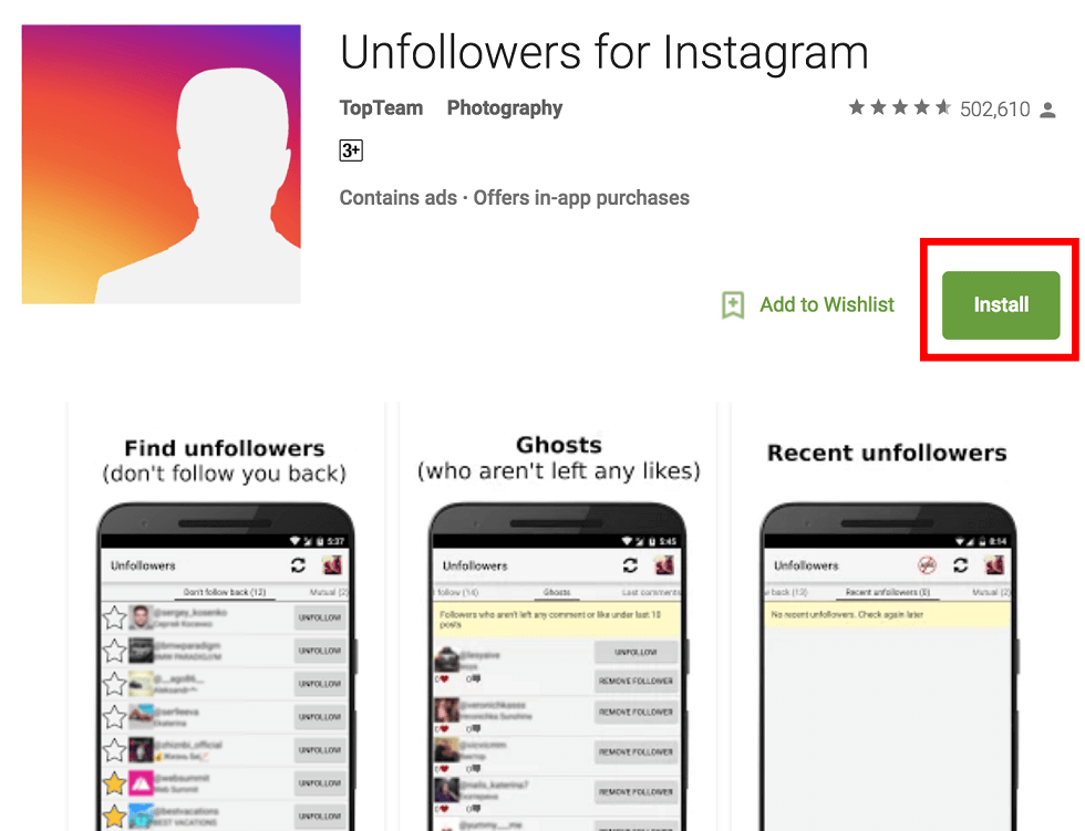 App to Know Who Unfollow me on Instagram