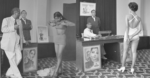 21 Rare Photos Which Shows How Bollywood Auditions Were Done In 1951