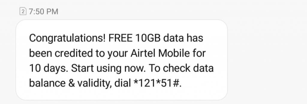 (Updated) AirTel Free Data by Missed Call Internet Code